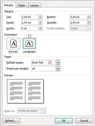cara membuat layout buku pada MS Word 2007