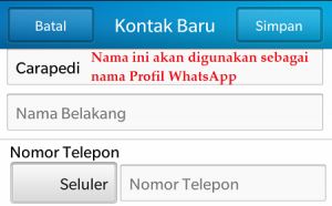 Cara merubah nama profil WhatsApp