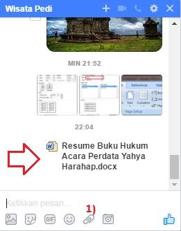 cara mengirim file dokumen lewat pesan facebook