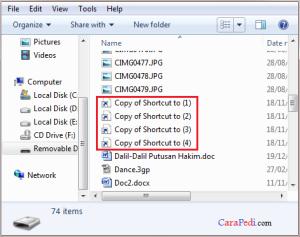cara atasi, virus, shortcut