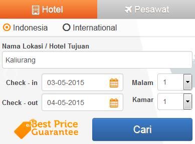 cara booking hotel online di pegipegi