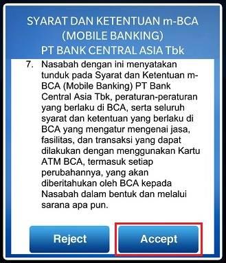 cara daftar mobile banking bca step 1