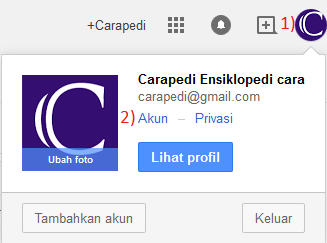 cara merubah password gmail step 1