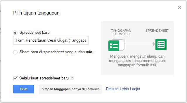 cara membuat formulir pendaftaran secara online dan gratis