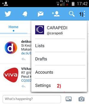 cara logout twitter di Android
