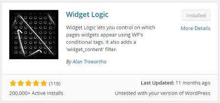 cara membuat widget muncul pada halaman tertentu