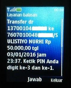 cara transfer ke bank lain melalui sms banking
