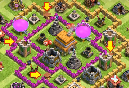 cara bertahan game clash of clans