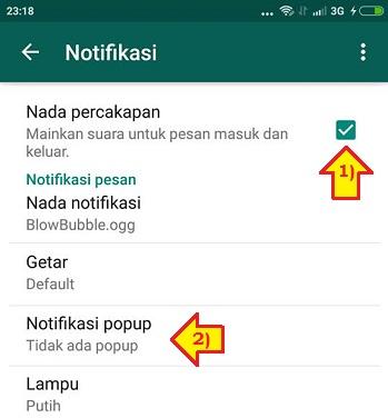 cara mematikan notifikasi whatsapp grup