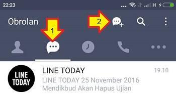 cara menggunakan line untuk pemula - chatting