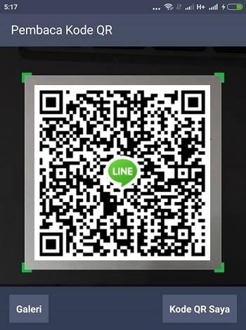 cara menambahkan teman di line dengan kode QR