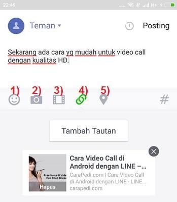 cara update status line
