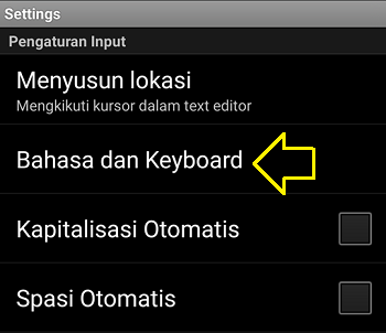 cara setting font arab di android