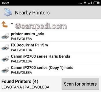 cara print langsung dari hp android lewat wifi