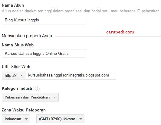 cara mendaftarkan blog di google analytics jika sudah punya akun lainnya