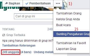 cara, rubah, nama, grup, fb, facebook