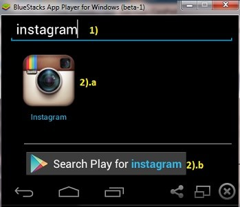 cara instal instagram di pc komuter atau laptop dengan bluestacks