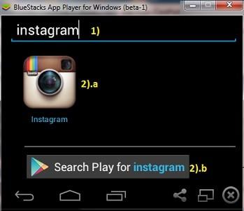 cara instal instagram di pc komuter atau laptop dengan bluestacks