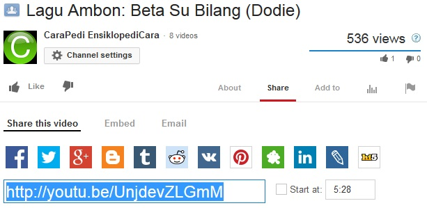 cara menampilkan video youtube ke fb