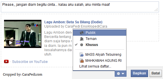 cara share video ke facebook2