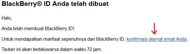 cara konfirmasi alamat email id bbm anda