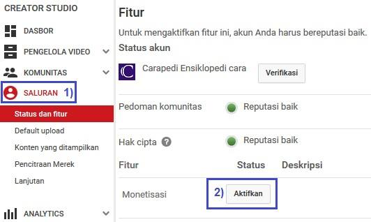 trik cara monetisasi video youtube terbaru 2015