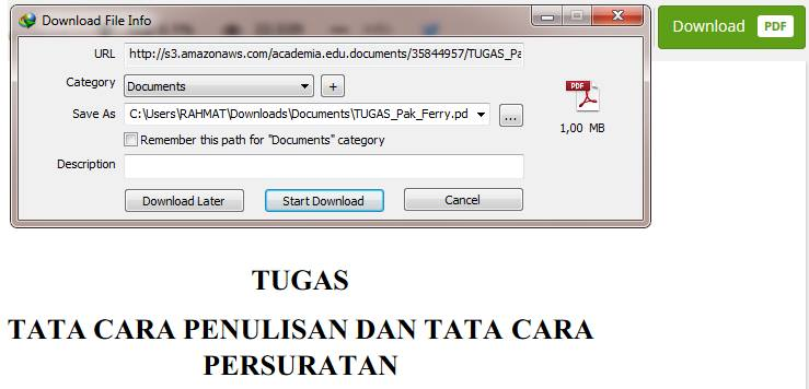 cara download file dokumen di academia