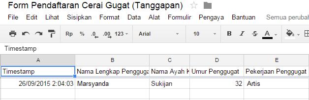 cara membuat formulir pendaftaran di blog