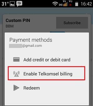 cara berlangganan custom pin bbm