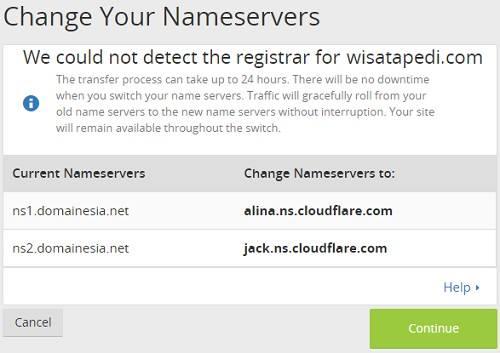 cara mengaktifkan cloudflare