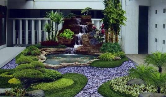 cara mempercantik taman halaman depan rumah