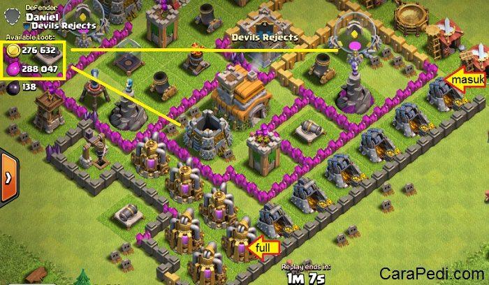 cara mendapatkan gold dan elixir dengan cepat tanpa root clash of clans