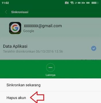 cara mengganti akun gmail di android