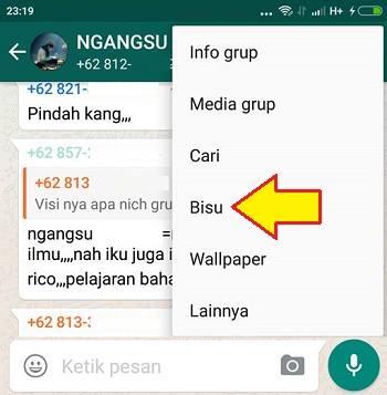 cara mematikan notifikasi grup wa