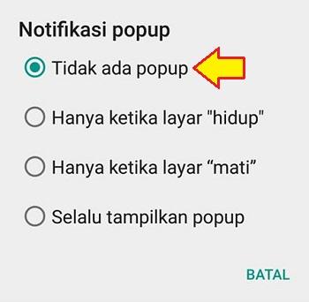 cara menyembunyikan notifikasi whatsapp