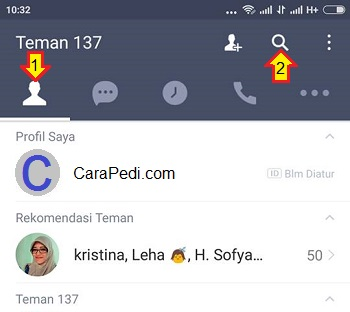 cara video call dengan line
