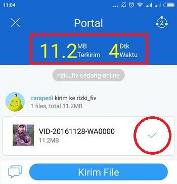 cara kirim file dari android ke laptop