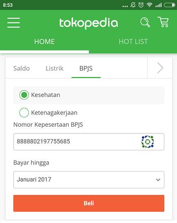 cara bayar bpjs online